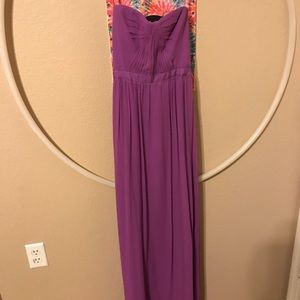 Purple  prom dress, 2nd picture is dress in blue